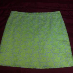 J Crew Yellow Mini Skirt Size 12